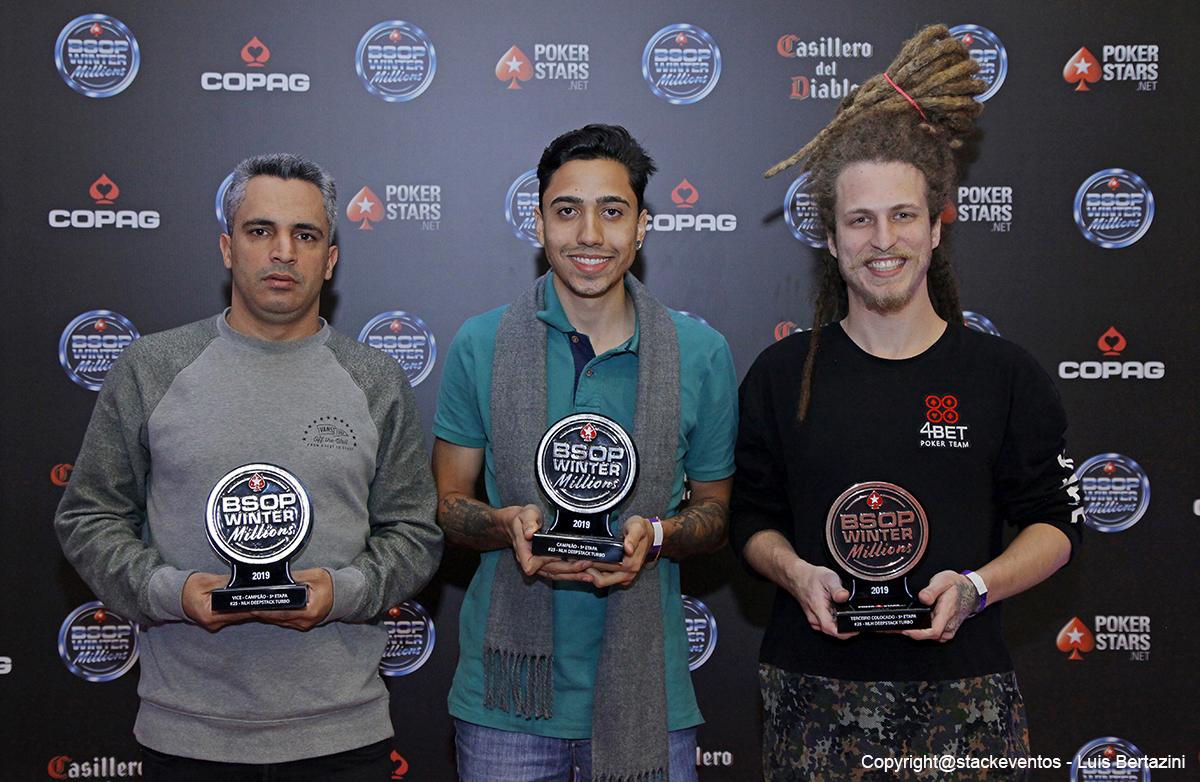 Lúcio Antunes, Fabio Santos e Victor Propato - Deepstack Turbo - BSOP Winter Millions
