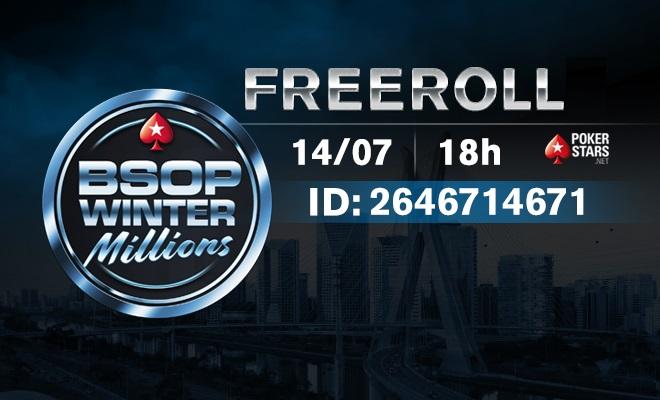 Freeroll para o BSOP Winter Millions