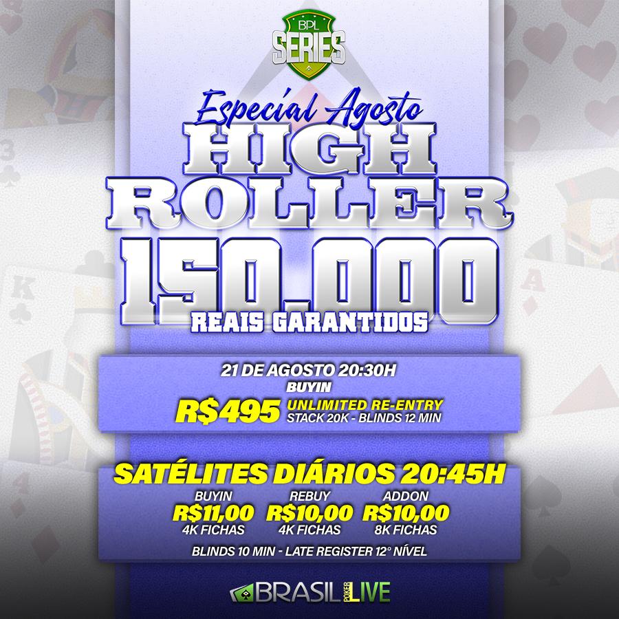 High Roller do Especial de Agosto do Brasil Poker Live