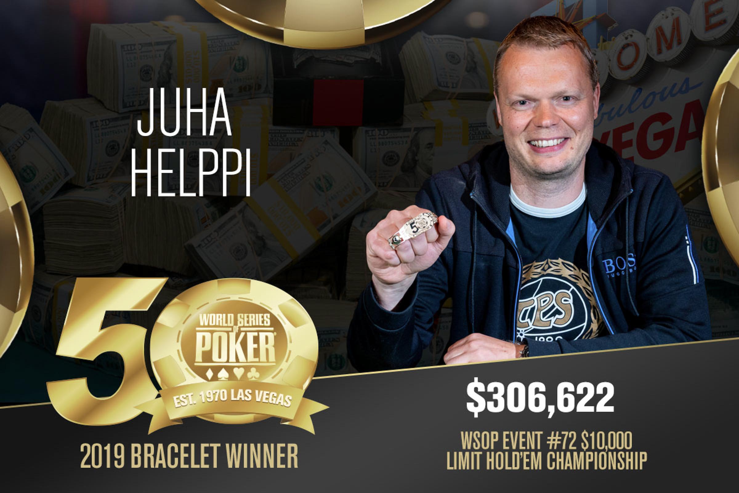 Juha Helppi campeão do Evento #72 da WSOP