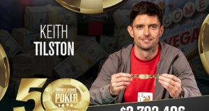 Keith Tilston campeão do Evento #83 da WSOP