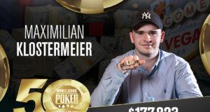 Maximilian Klostermeier campeão do Evento #78 da WSOP
