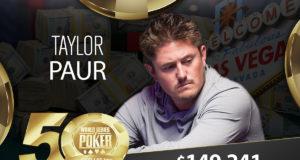 Taylor Paur campeão do Evento #88 da WSOP