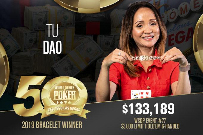 Tu Dao vence o Evento #77 da WSOP