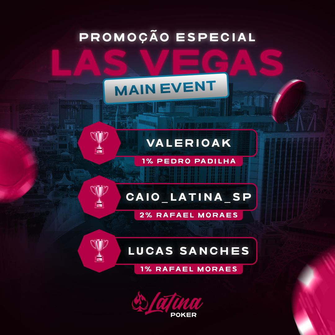 Ganhadores da promoção do Latina Poker