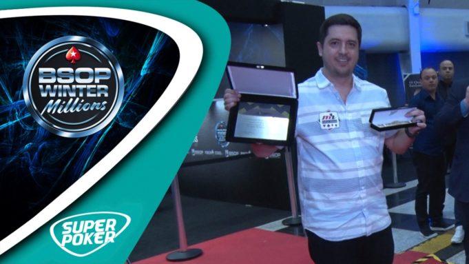 Murilo Figueredo recebe homenagem da CBTH no BSOP Winter Millions