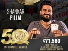 Shankar Pillai - Evento #81 - WSOP 2019