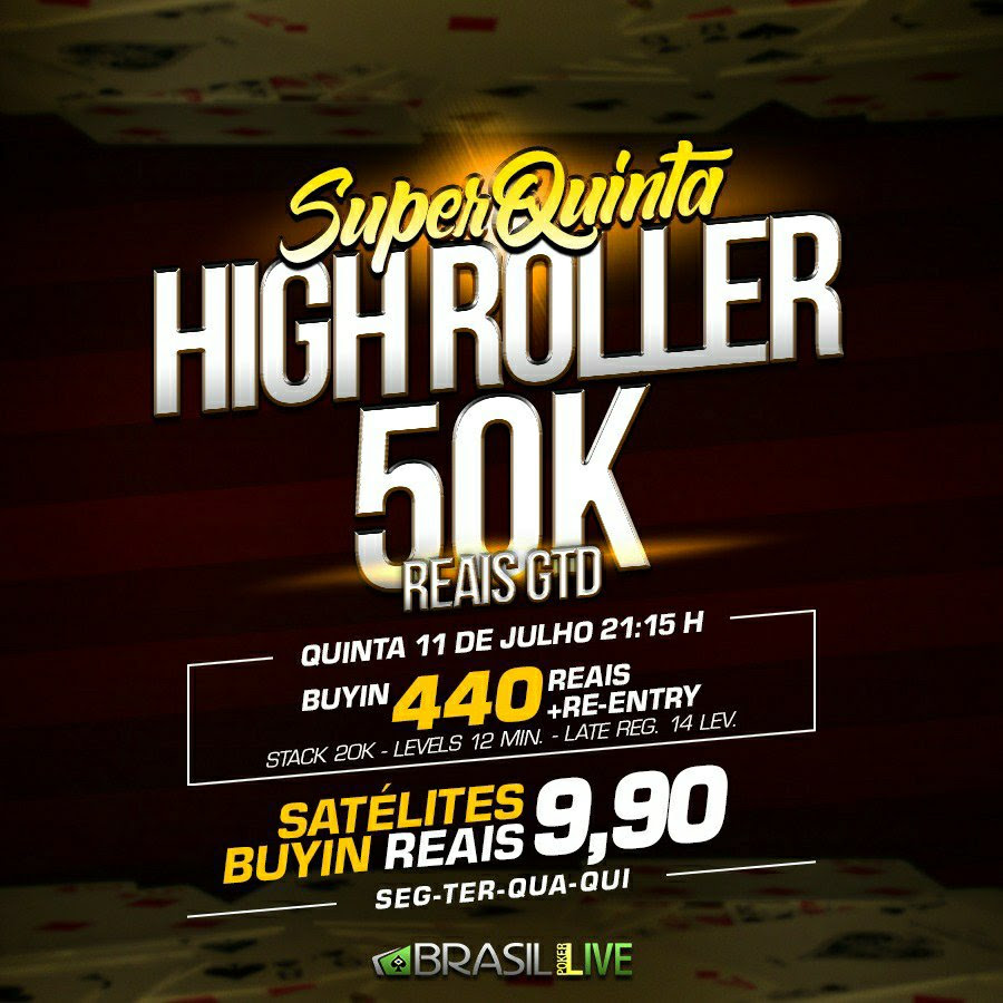 Super Quinta High Roller do Brasil Poker Live