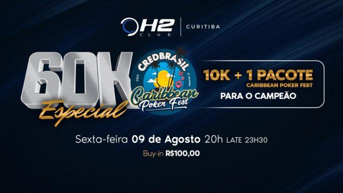 60k Especial Caribbean Poker Fest no H2 Club Curitiba