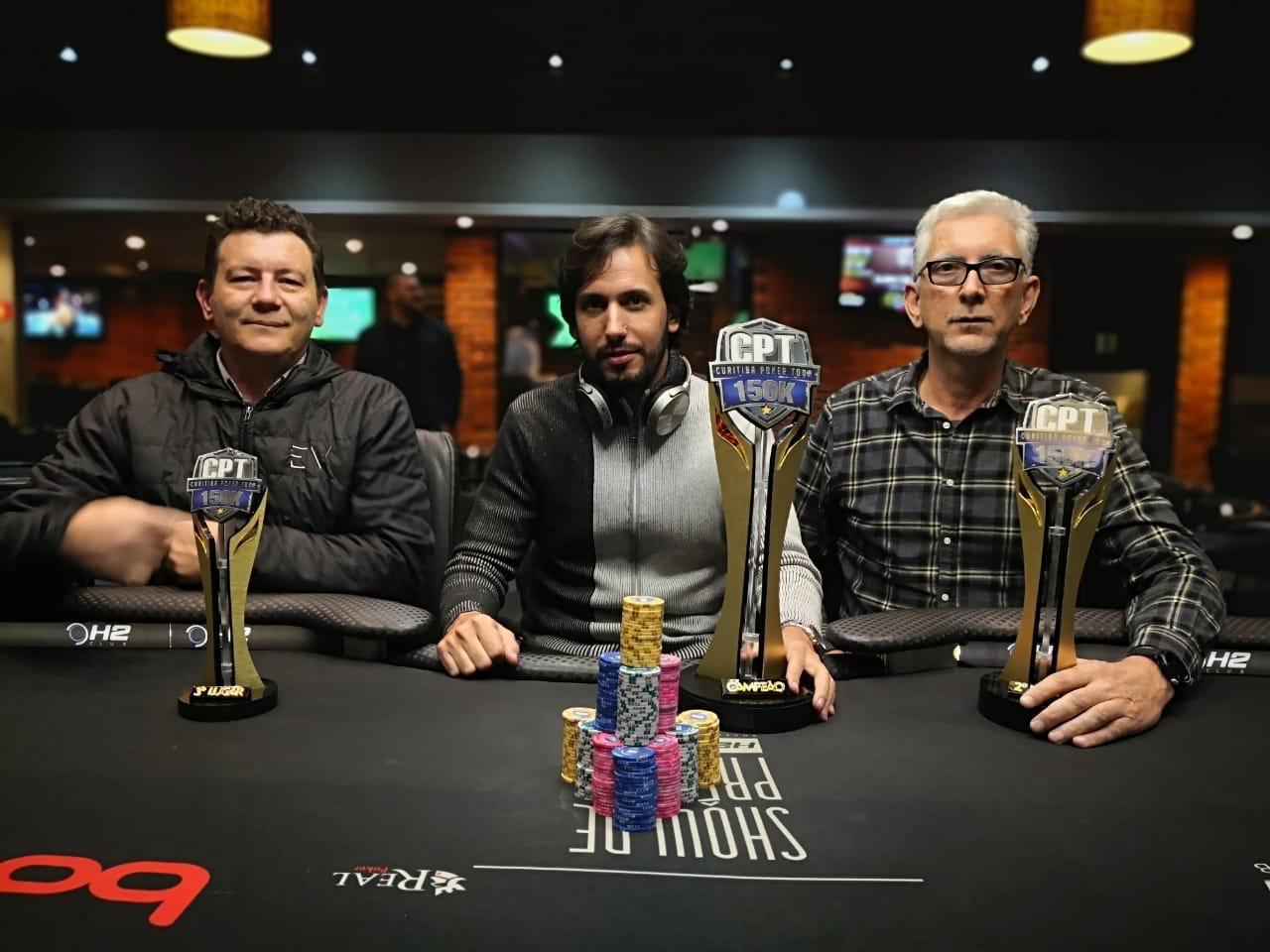 Pódio do Curitiba Poker Tour