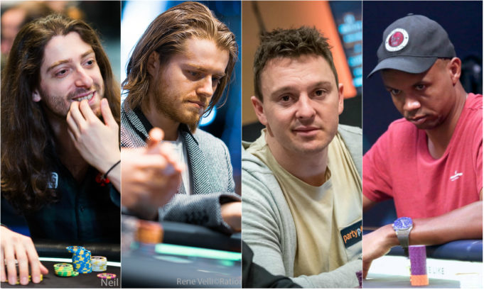 Igor Kurganov, Charlie Carrel, Sam Trickett e Phil Ivey