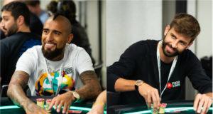 Arturo Vidal e Gerard Pique - EPT Barcelona