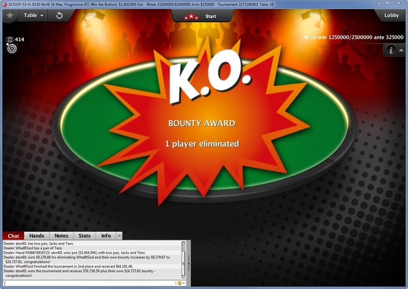 Progressive Knockout - PokerStars