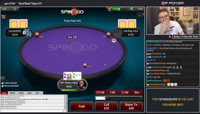 Nick Walsh - streamer PokerStars