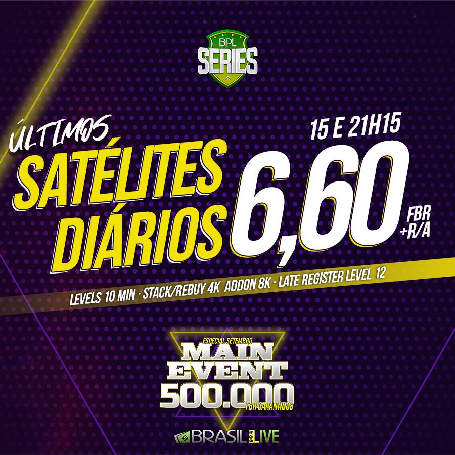 Satélites do Brasil Poker Live para o Especial de Setembro da BPL Series