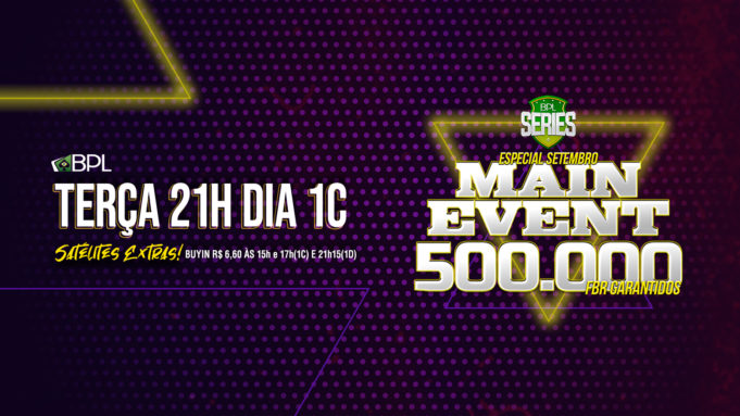 Dia 1C do Main Event da BPL Series Especial de Setembro
