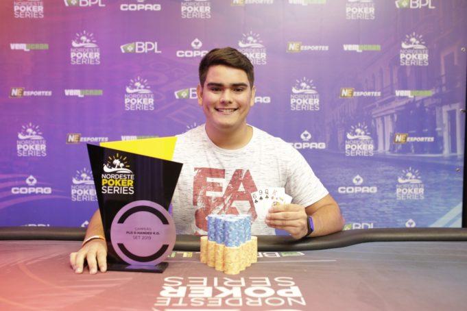 Guilherme Barros campeão do Pot-Limit Omaha 6-handed Knockout