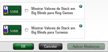Mostrar stack em big blinds - PokerStars