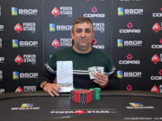 Marcelo Mesqueu campeão do Heads-Up do BSOP Gramado