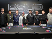 Mesa Final do Main Event do BSOP Gramado