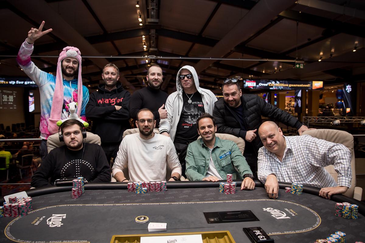 Mesa final do Evento #1 da WSOP Europa