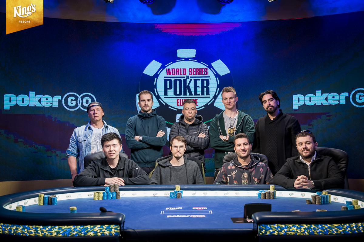 Mesa final do Main Event da WSOP Europa (foto: King's Casino)