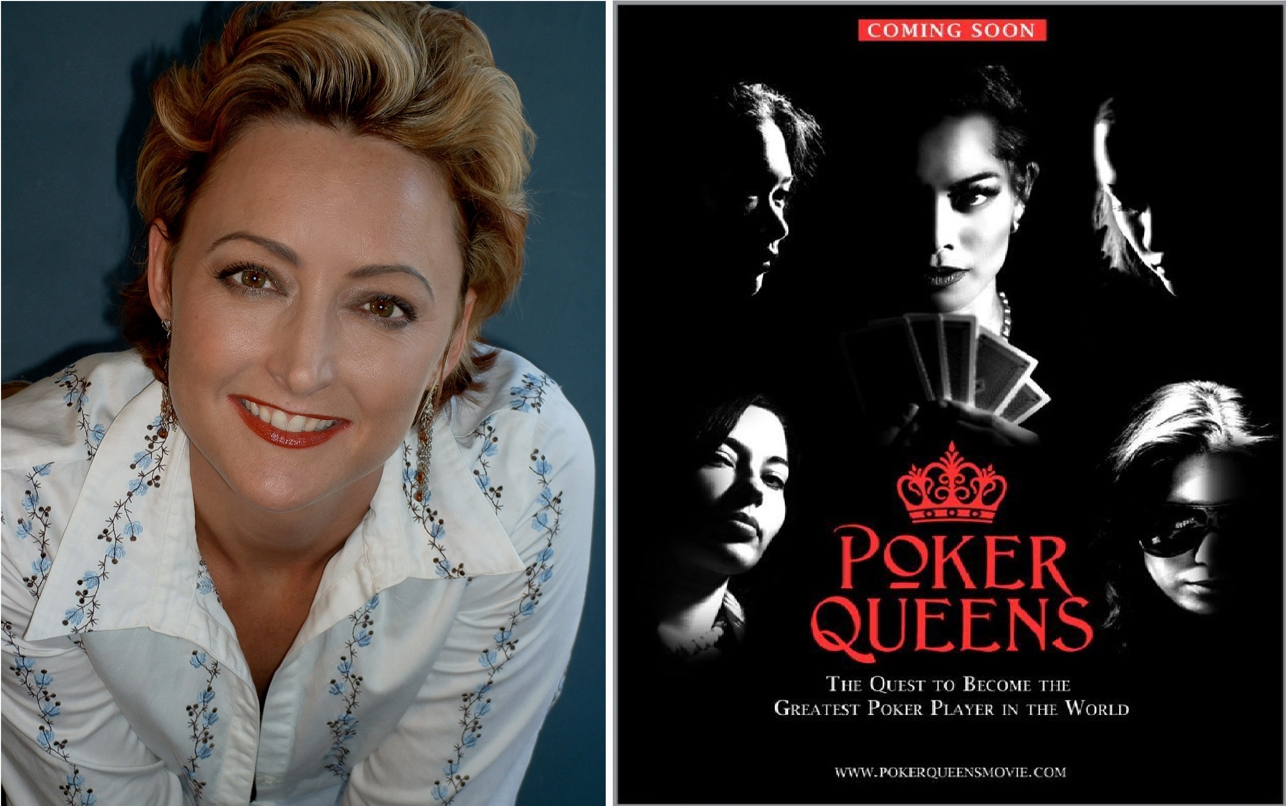 Sandra Background e o filme Poker Queens Movie Trailer