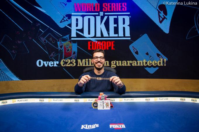 Tomas Ribeiro campeão do Evento #11 da WSOP Europa