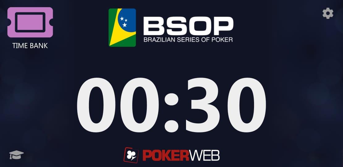 Layout BSOP no aplicativo Action Clock