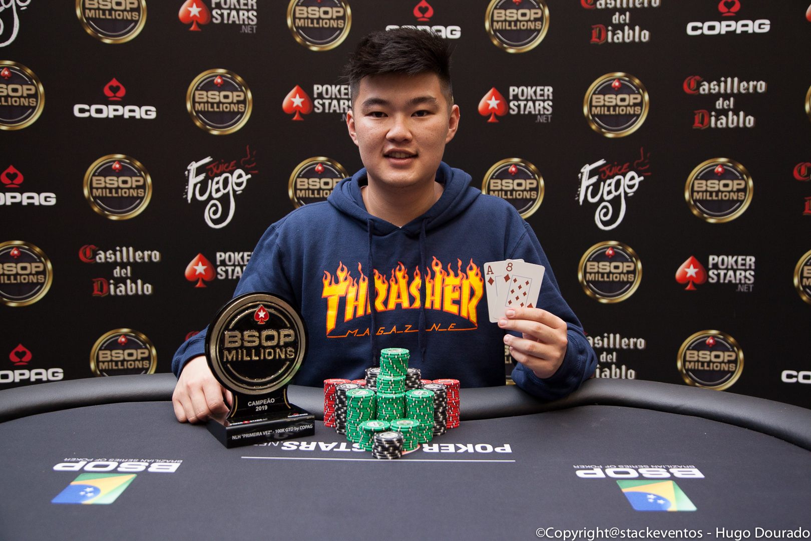 Vinicius Massaru campeão do Primeira Vez by Copag do BSOP Millions