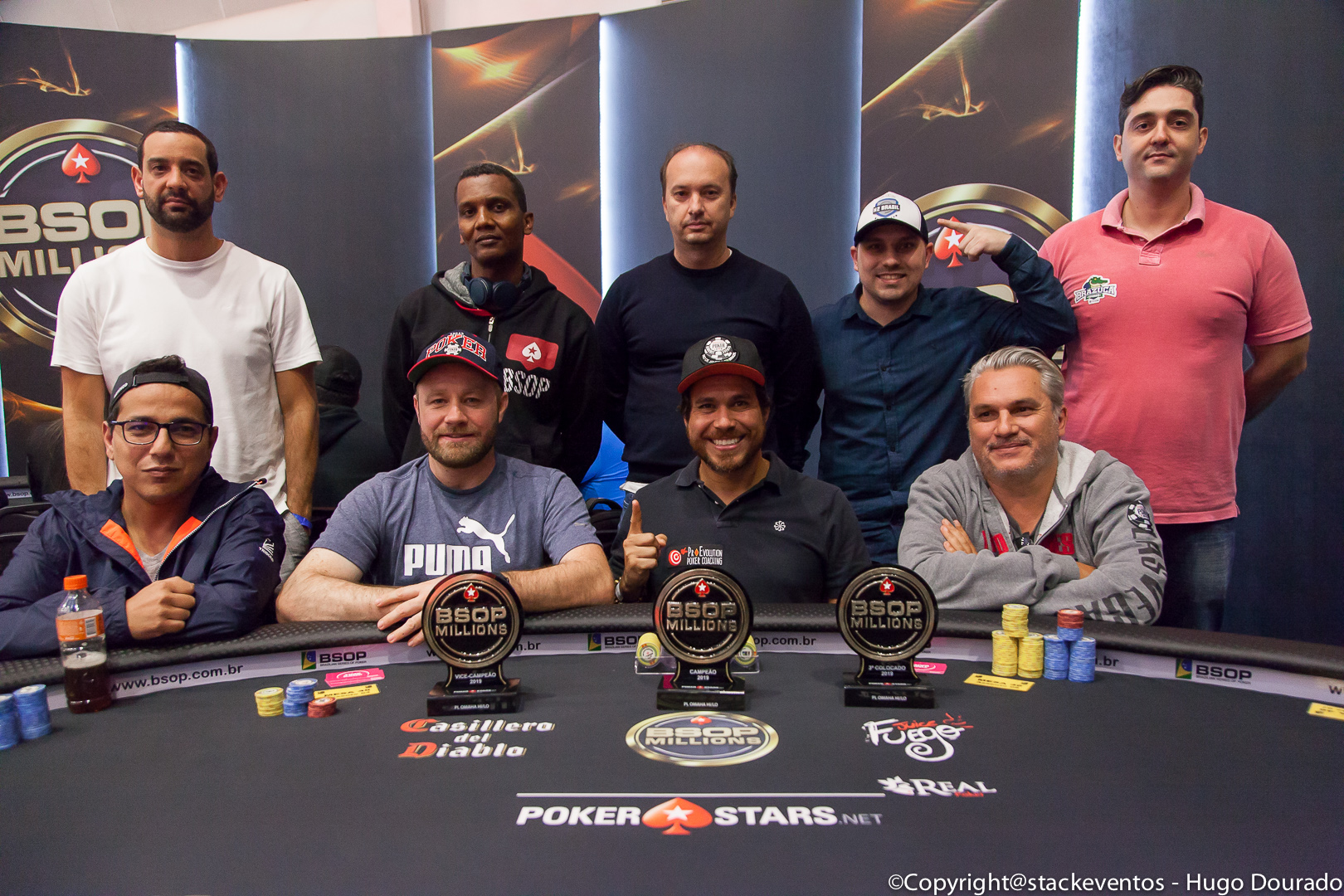 Mesa final do Pot-Limit Omaha Hi-Lo do BSOP Millions