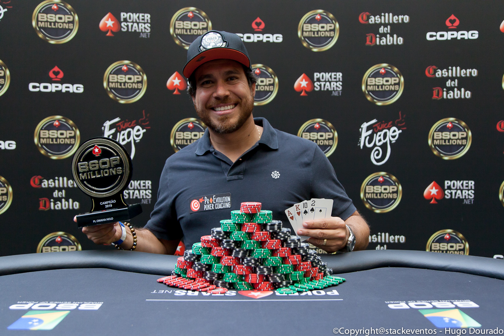 Jean Vicente campeão do Pot-Limit Omaha Hi-Lo do BSOP Millions