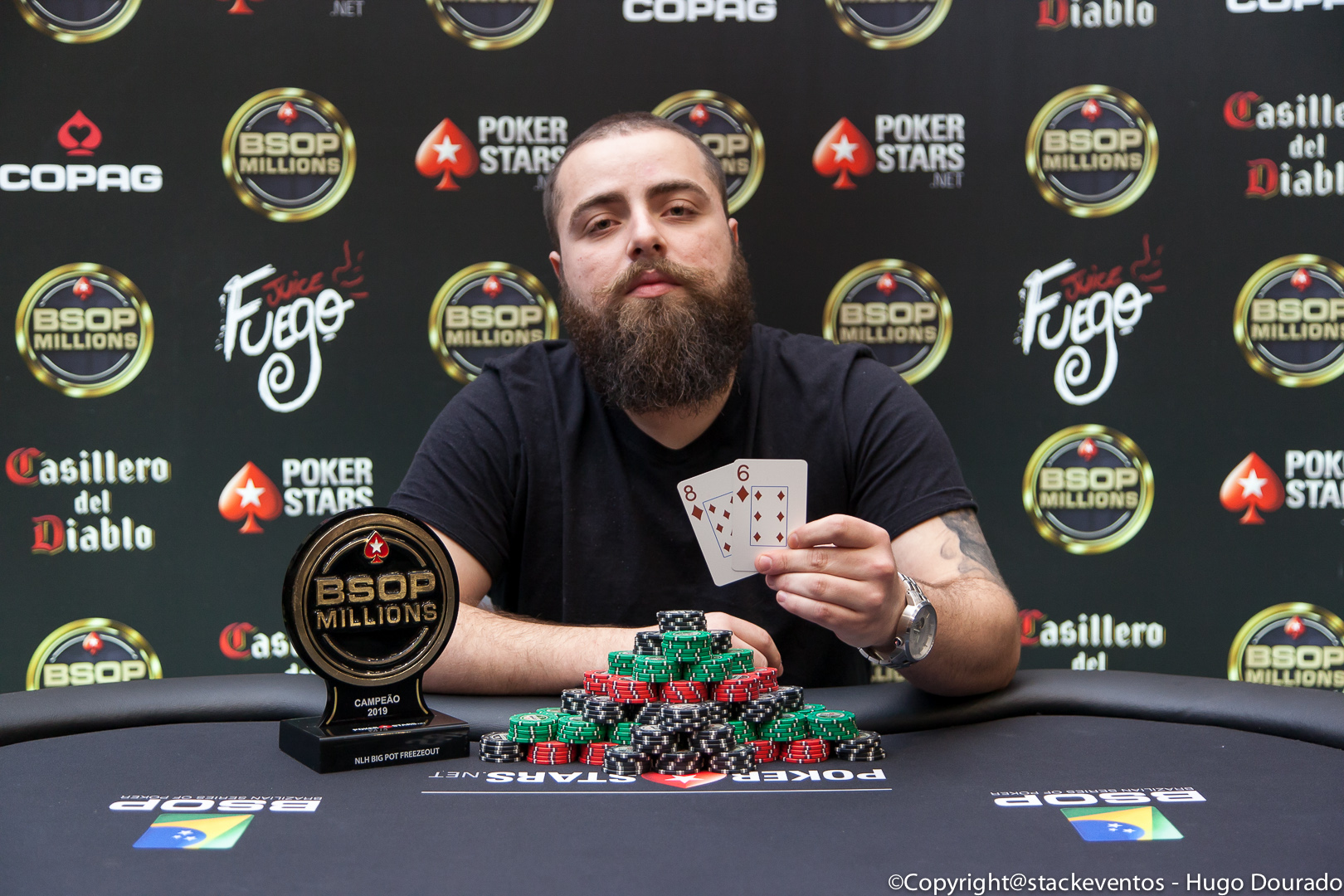 Lorenzo Bazei campeão do Big Pot Freezeout do BSOP Millions