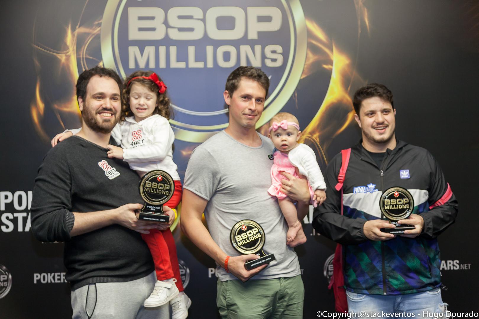 Pódio Super High Rollers - BSOP Millions