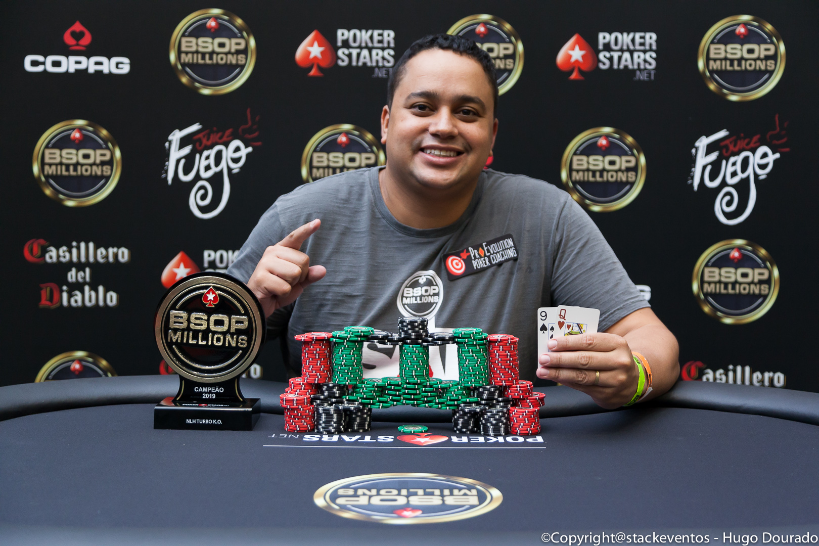 Rafael Moreira campeão do Turbo Knockout do BSOP Millions
