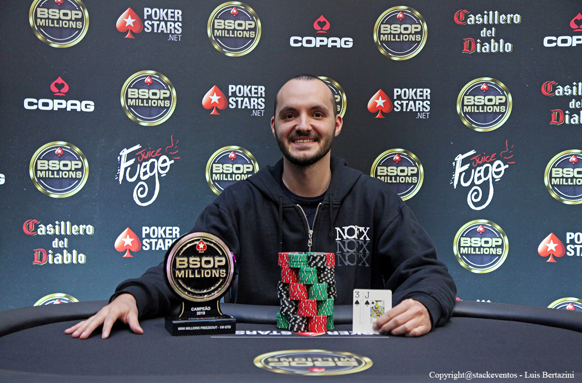 Douglas Schiochett campeão do Mini Millions Freezeout do BSOP Millions