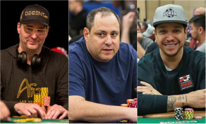 Phil Hellmuth, David Baker e Felipe Mojave