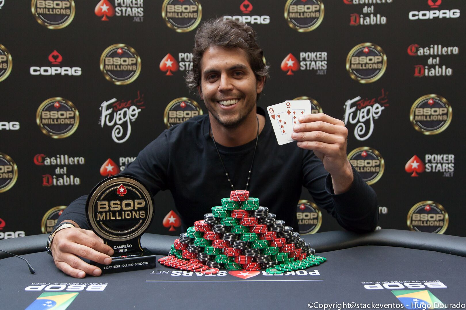 Thiago Signorelli campeão do 1-Day High Roller do BSOP Millions