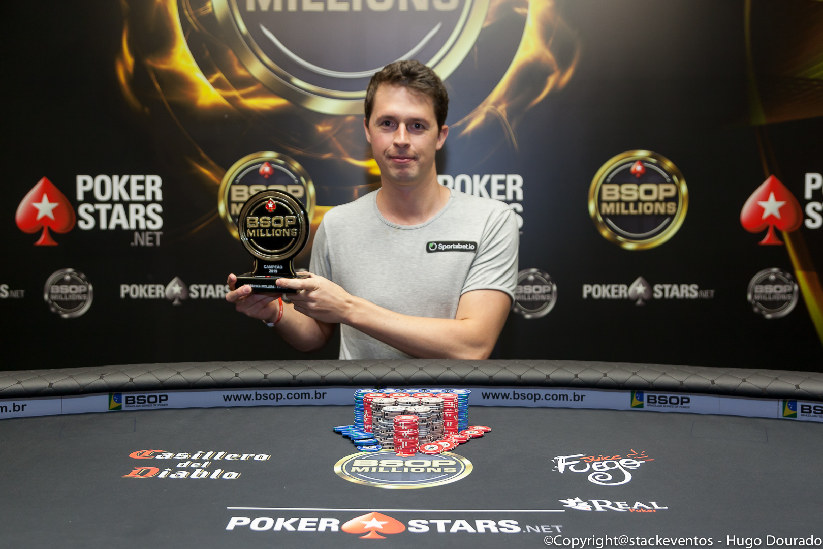 Bruno Volkmann campeão do Super High Roller do BSOP Millions