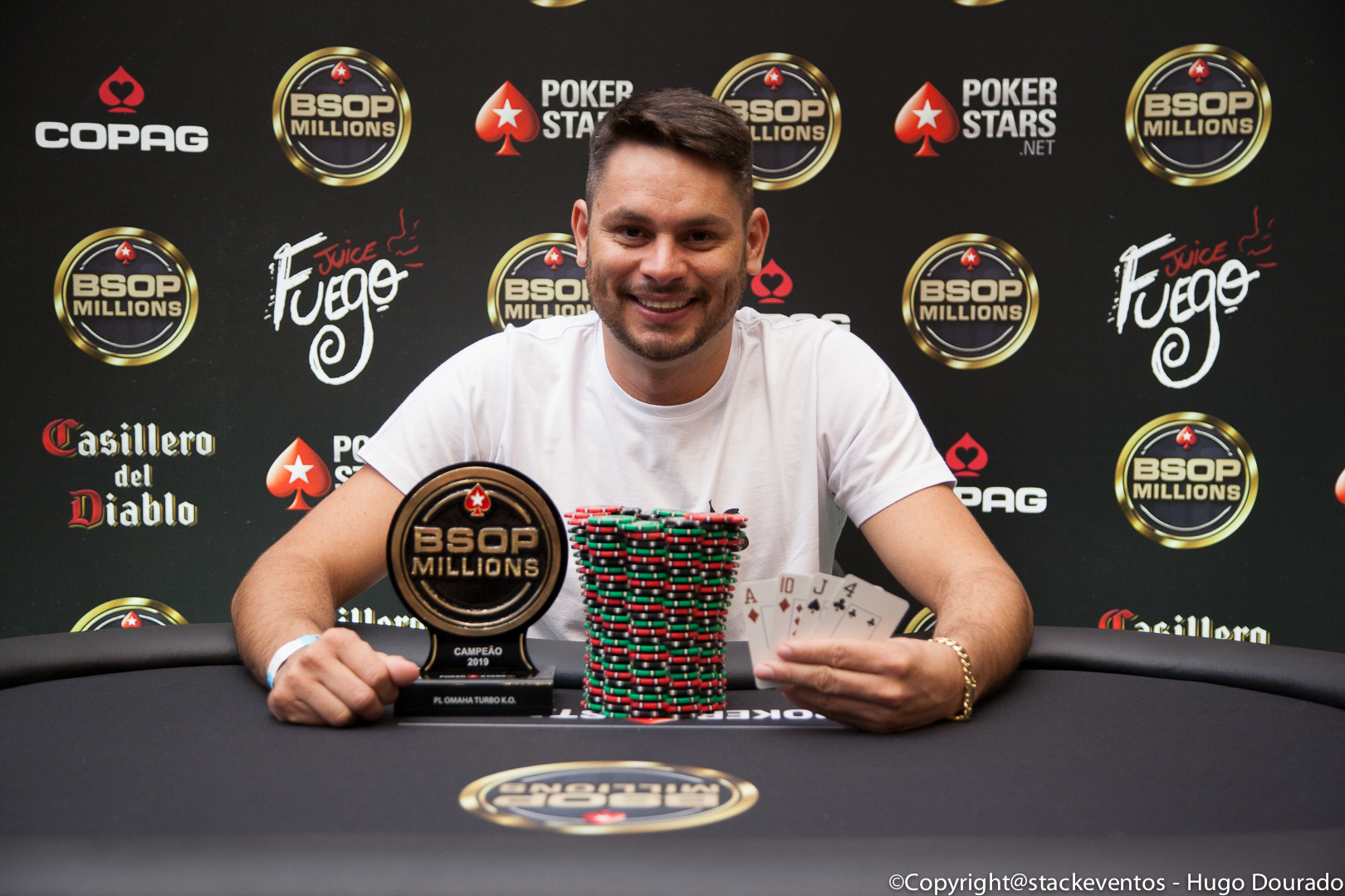Jonathan Batista campeão do Pot-Limit Omaha Turbo Knockout do BSOP Millions