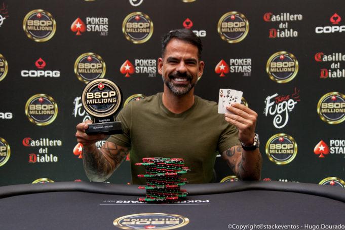 Flávio Sampaio campeão do 300K garantidos do BSOP Millions