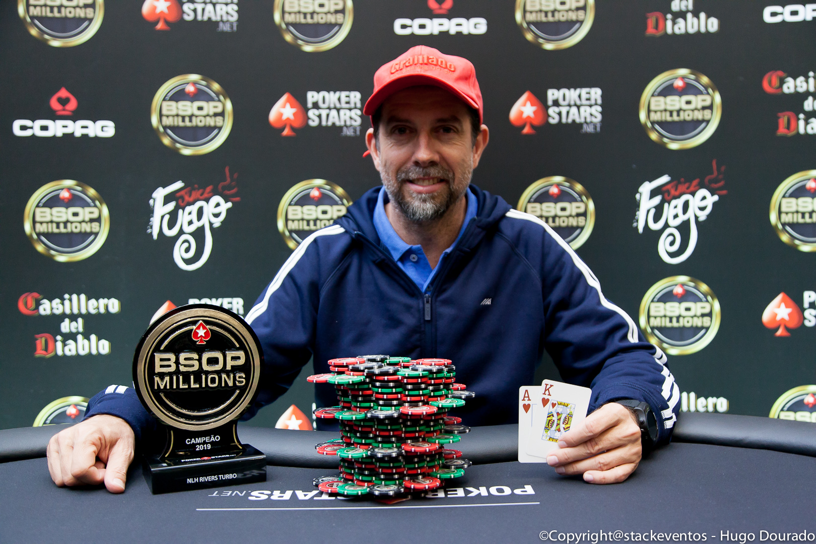 Márcio de Oliveira campeão do Rivers do BSOP Millions
