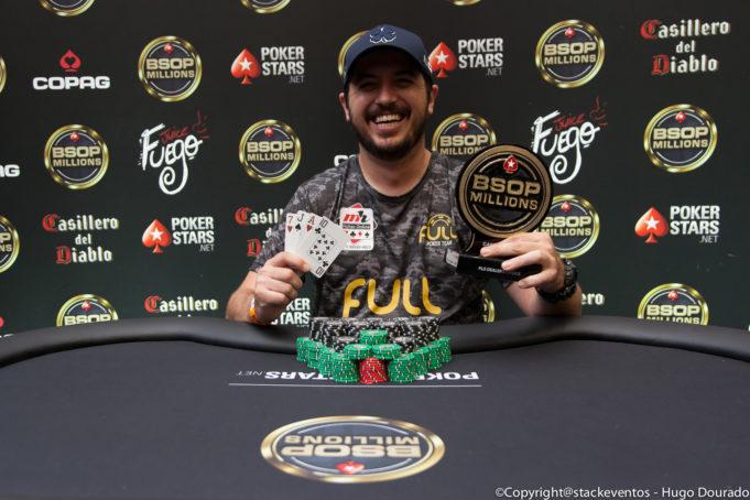 Murilo Figueredo campeão do PLO Dealers Choice do BSOP Millions