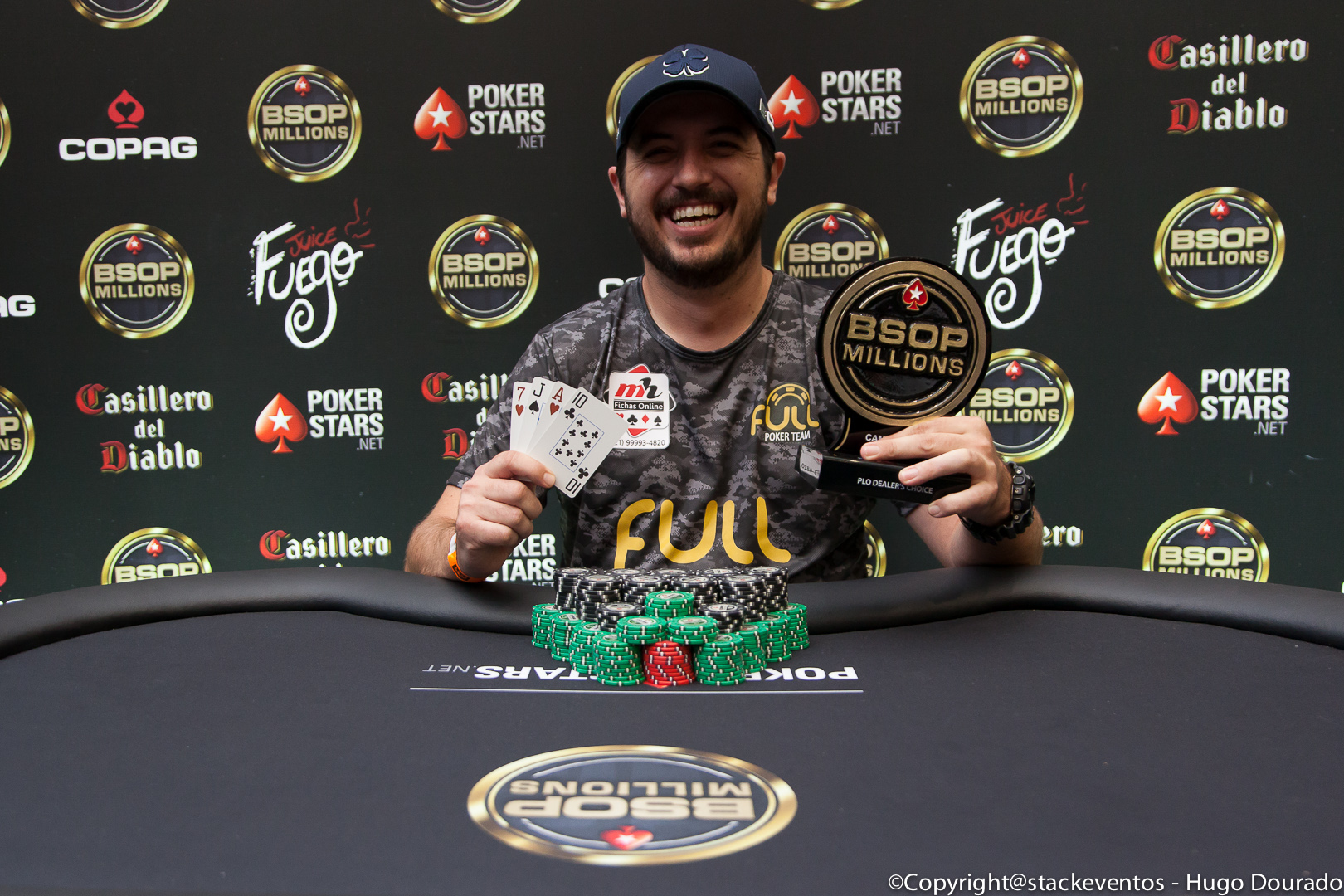 Murilo Figueredo campeão do PLO Dealers Choice do BSOP Millions