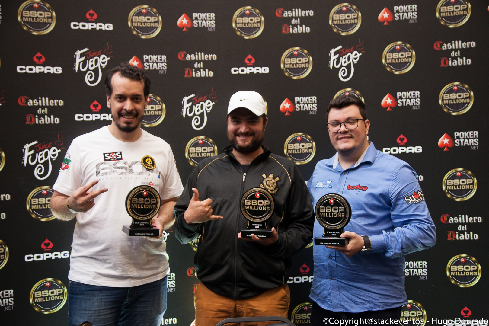 Pódio do 6-handed Knockout do BSOP Millions