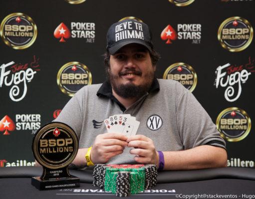 Marcelo Cunha - Campeão Mixed Games Dealers Choice - BSOP Millions