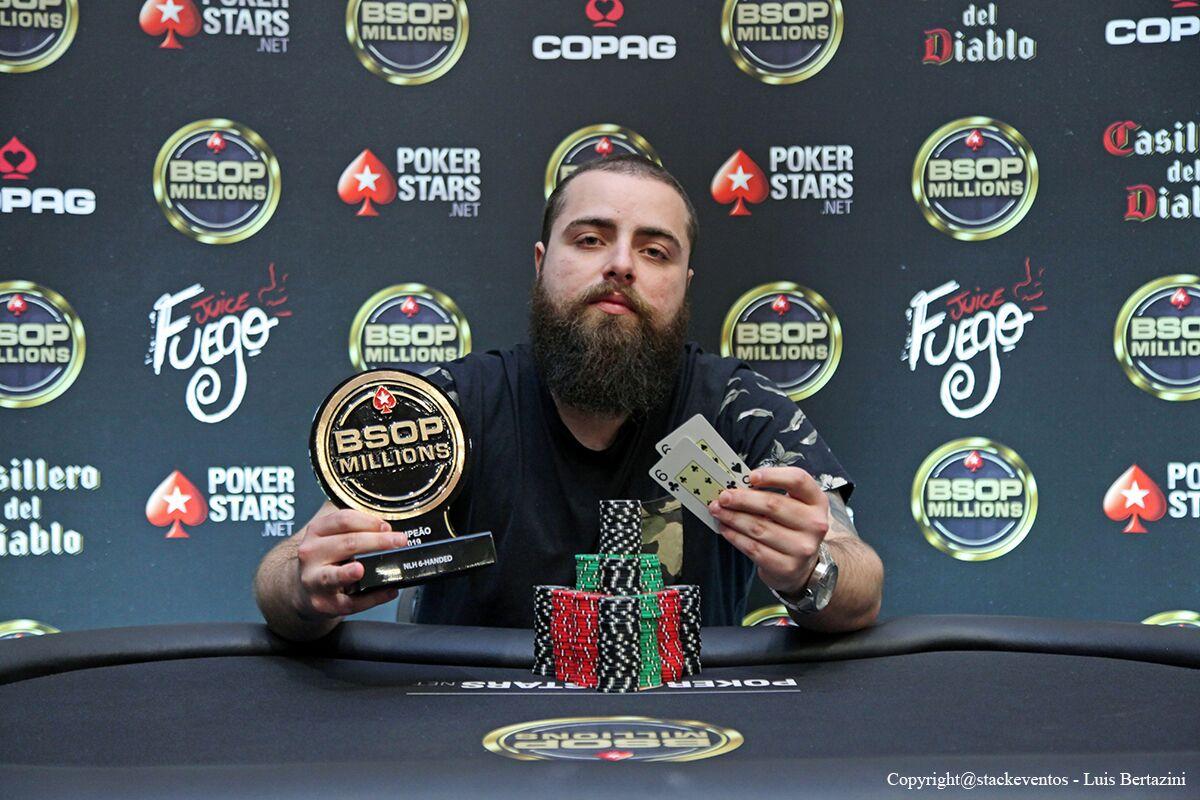 Lorenzo Bazei campeão do 6-handed do BSOP Millions