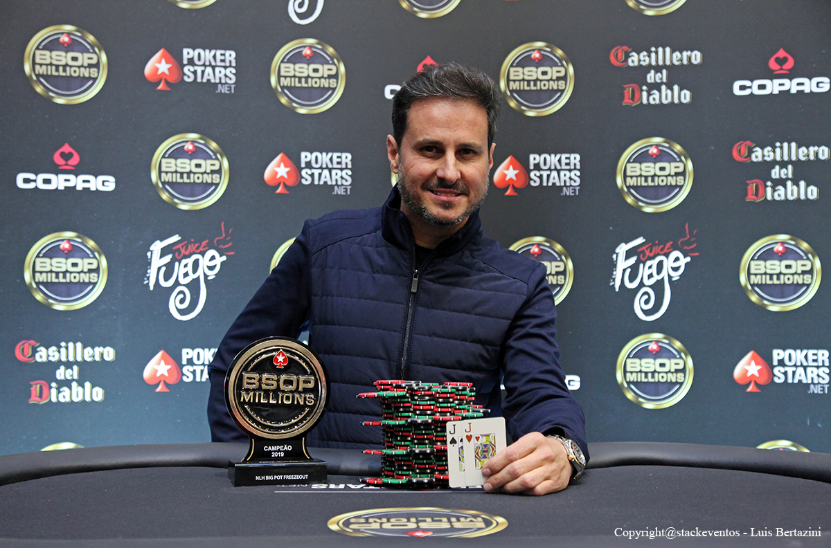 Mario Quintanilha campeão do Big Pot Freezeout do BSOP Millions