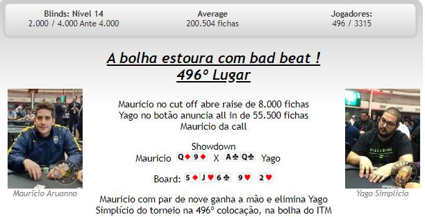 Bolha Main Event - BSOP Millions