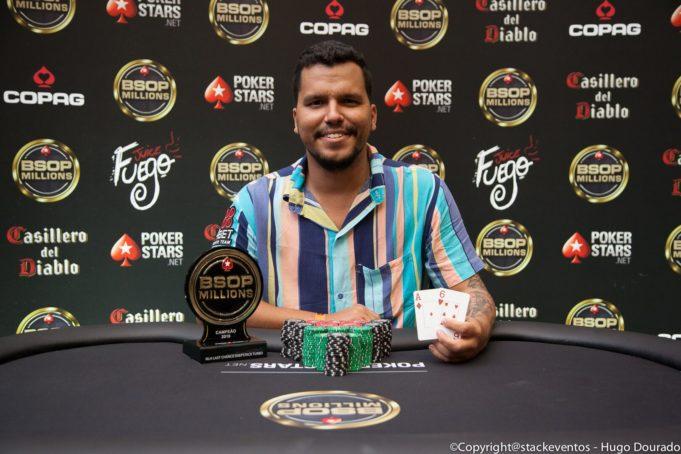 João Cândido campeão do Last Chance DeepStack Turbo do BSOP Millions